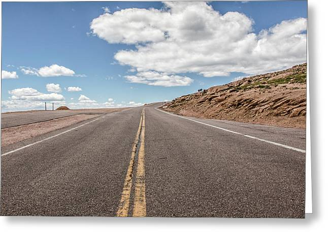 The Road Up Pikes Peak At Around 12,000 Feet Greeting Card