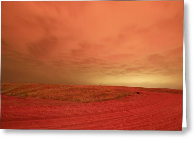 The Road Winding To Perdition Greeting Card by Jeff Swan
