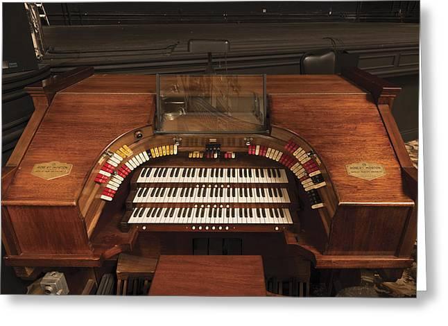 The Robert Morton Organ At The Perot Theatre In Texarkana  Greeting Card