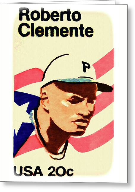 The Roberto Clemente  Greeting Card by Lanjee Chee