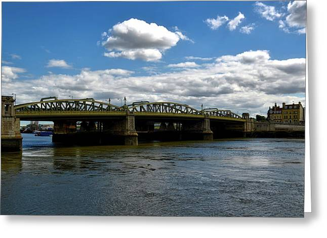 The Rochester Bridge Over The River Medway  Greeting Card by Barry Marsh