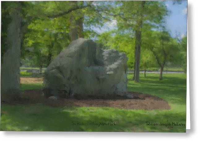 The Rock At Frothingham Park, Easton, Ma Greeting Card