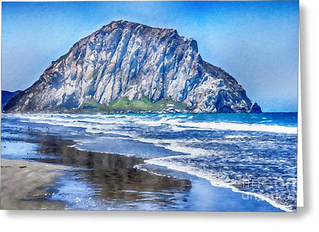 The Rock At Morro Bay Large Canvas Art, Canvas Print, Large Art, Large Wall Decor, Home Decor, Photo Greeting Card by David Millenheft