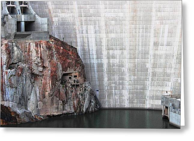 The Rock Behind The Dam Greeting Card