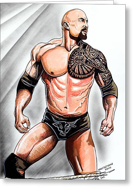 The Rock Greeting Card by Dave Olsen