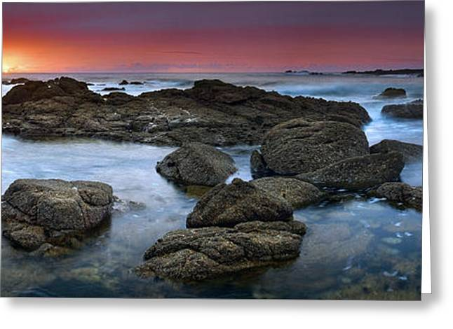 The Rock Labyrinth Greeting Card by John Chivers