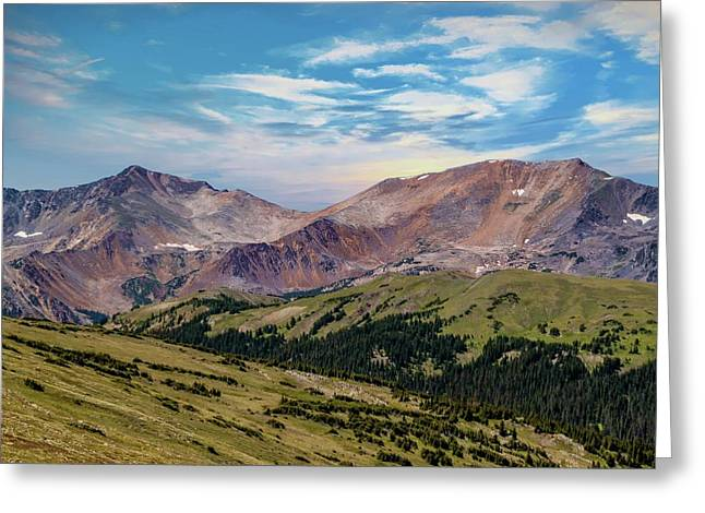 The Rockies Greeting Card by Bill Gallagher