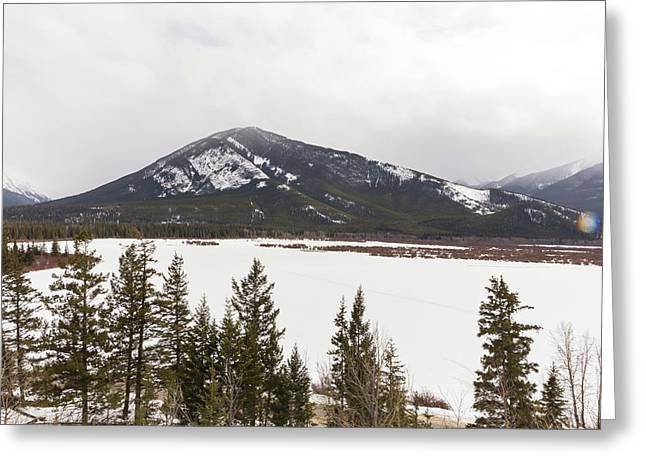 Greeting Card featuring the photograph The Rockies by Josef Pittner