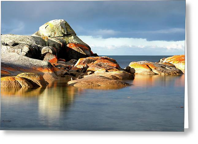 The Rocks And The Water Greeting Card