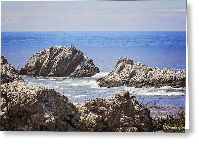 The Rocks Of Bird Island Trail Greeting Card by Deana Glenz
