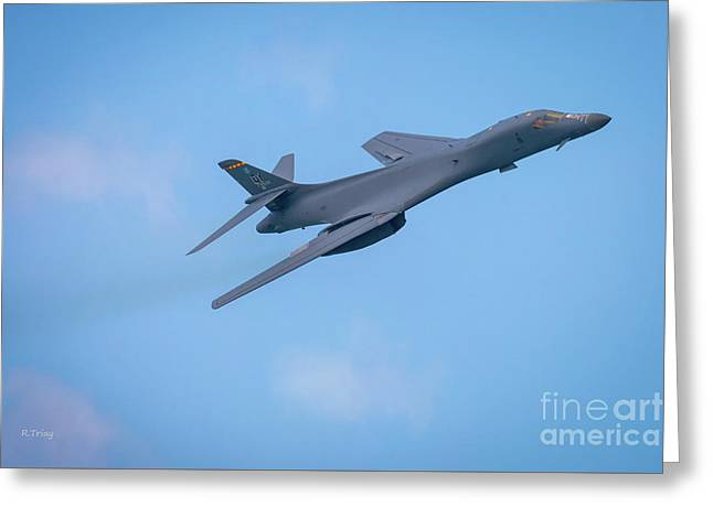 The Rockwell B-1 Lancer Bomber Greeting Card