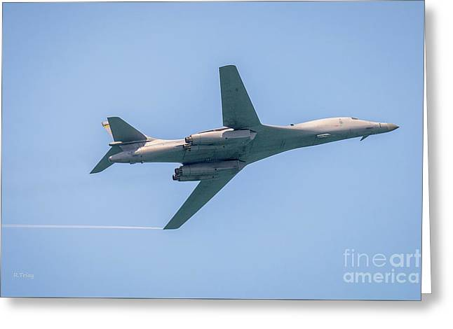 The Rockwell B-1 Lancer Slow Flight Greeting Card