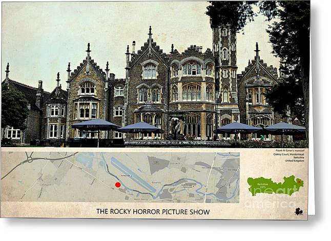 The Rocky Horror Picture Show Film Locations, Maidenhead, Berkshire Greeting Card by Pablo Franchi