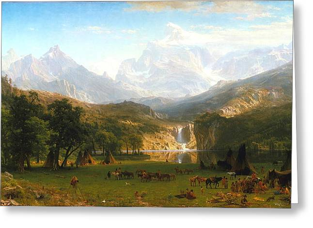The Rocky Mountains, Lander's Peak, C. 1863 Greeting Card by Albert Bierstadt