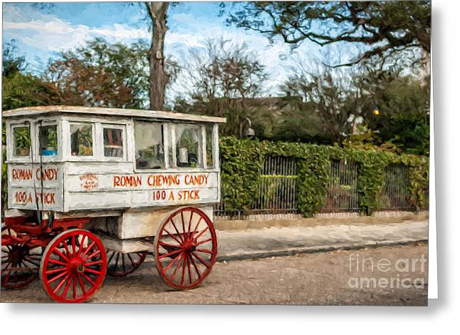 The Roman Candy Cart-nola Greeting Card by Kathleen K Parker