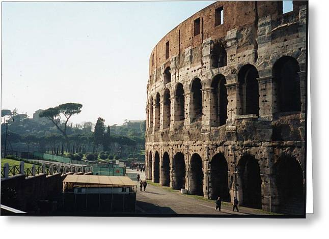 The Roman Colosseum Greeting Card by Marna Edwards Flavell
