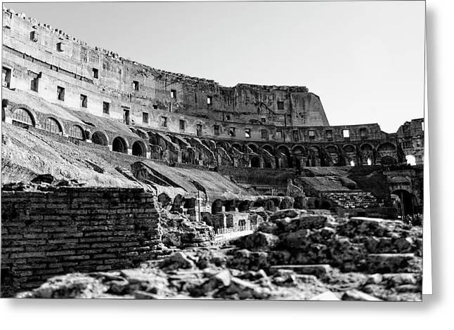 The Roman Colosseum - Rome, Italy  Greeting Card by Gerson Fuzitaki