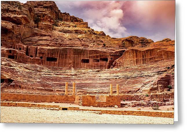 The Roman Theater At Petra Greeting Card