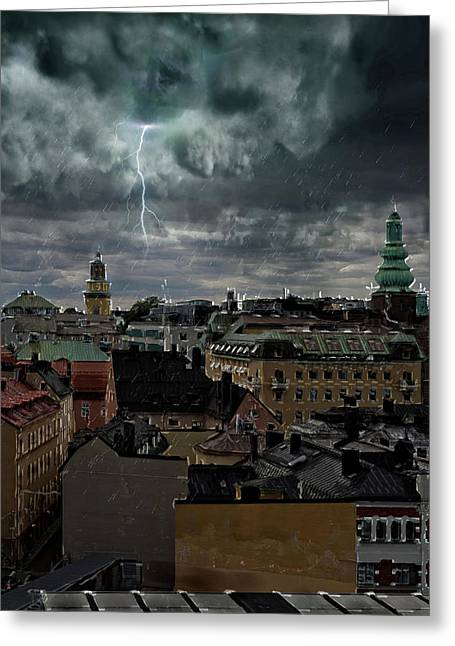 The Roofs Of Stockholm Greeting Card