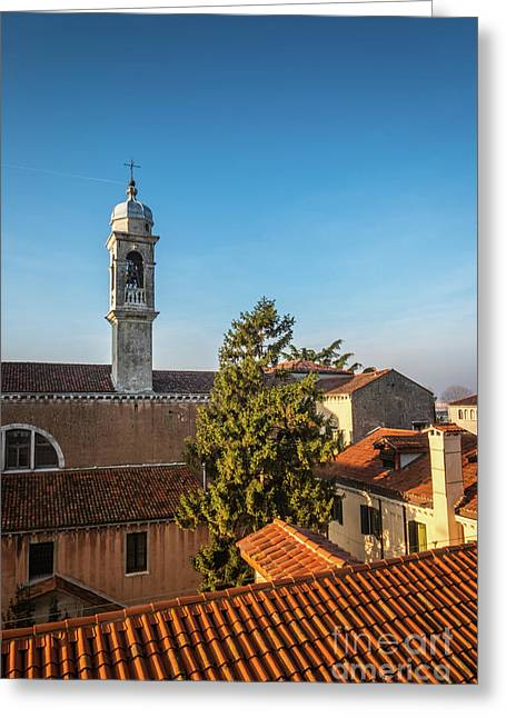 The Roofs Of Venice Greeting Card