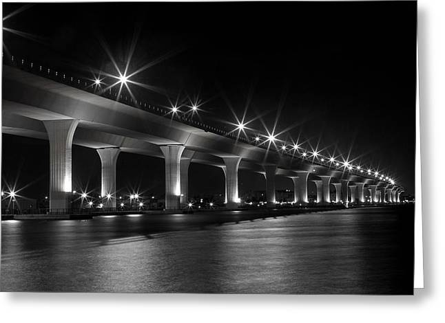 The Roosevelt At Night II Greeting Card by Susan Pantuso