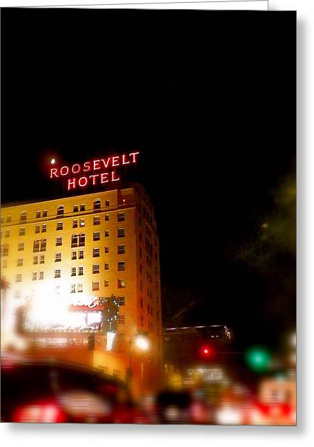 The Roosevelt Hotel By David Pucciarelli  Greeting Card
