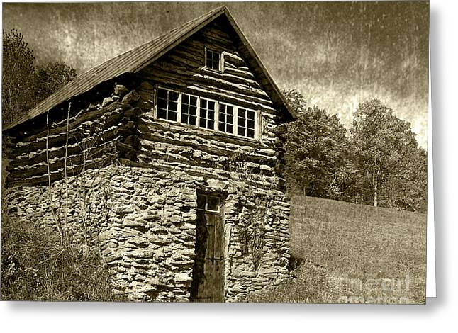 Greeting Card featuring the photograph The Root Cellar by Pete Hellmann