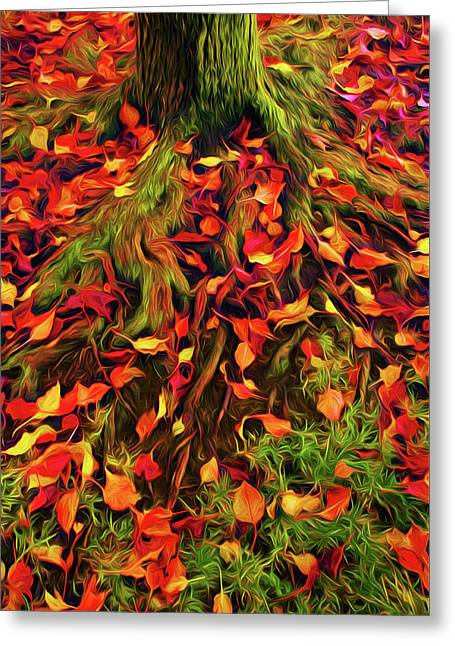 The Root Of Fall Greeting Card