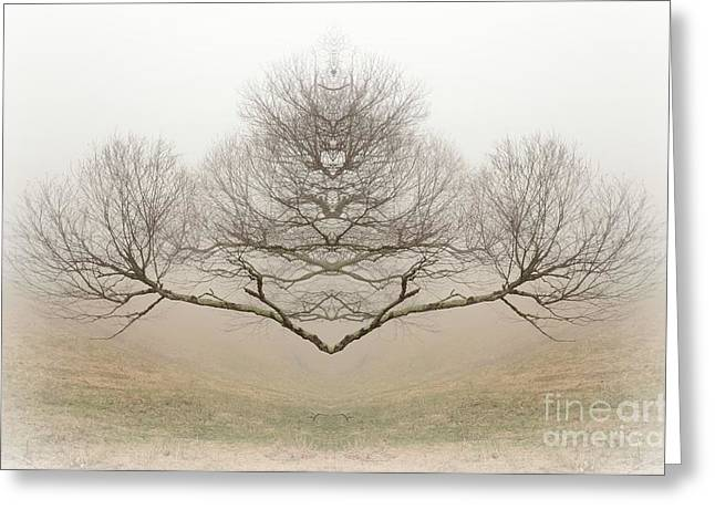 The Rorschach Tree Greeting Card