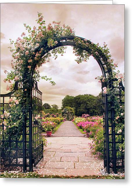The Rose Allee Greeting Card