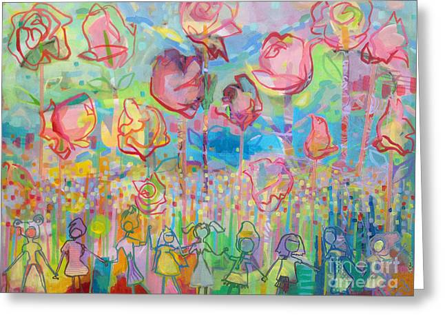 The Rose Garden, Love Wins Greeting Card by Kimberly Santini