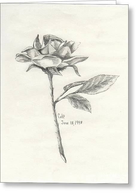 The Rose Greeting Card by Larry Cole