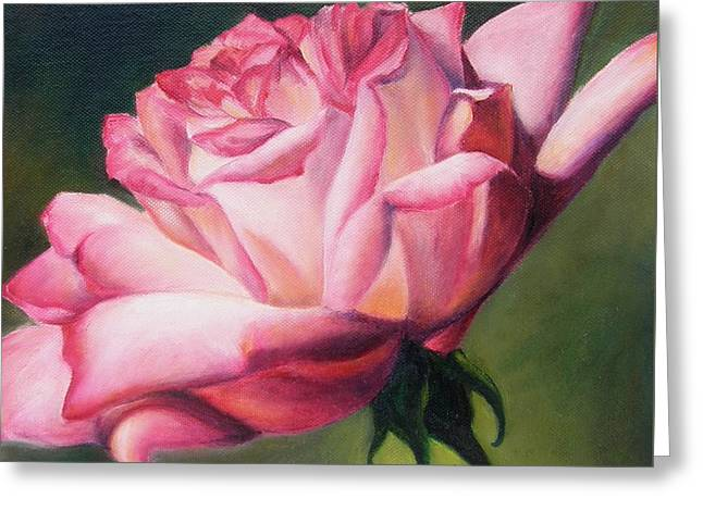 Greeting Card featuring the painting The Rose by Lori Brackett