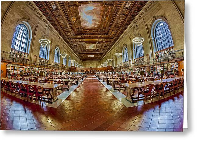 The Rose Main Reading Room Nypl Greeting Card by Susan Candelario