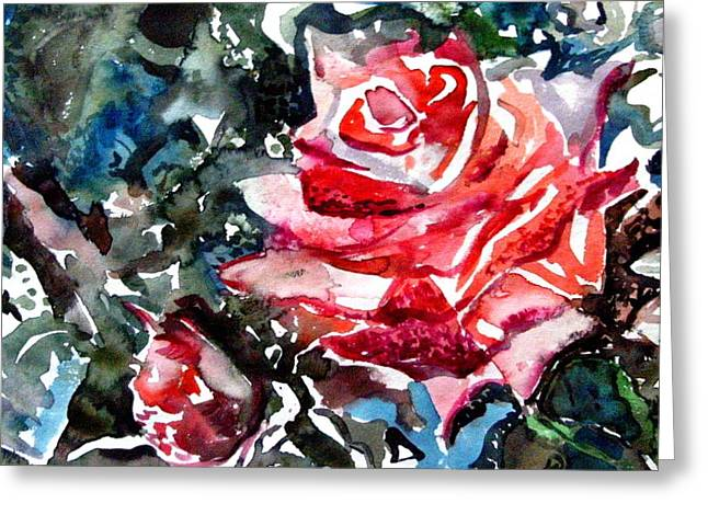 The Rose Greeting Card by Mindy Newman
