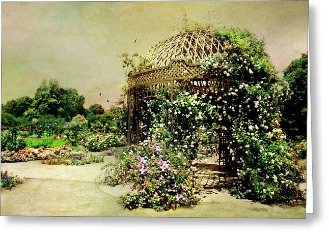 The Rose Pavilion Greeting Card by Diana Angstadt