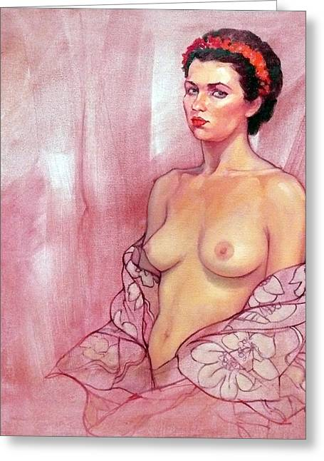The Rose Greeting Card by Roz McQuillan