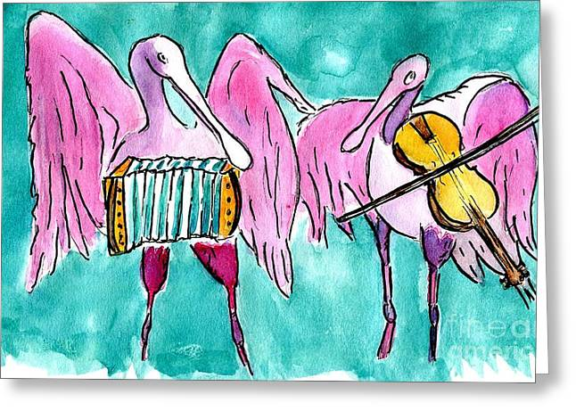 The Roseate Playbirds Greeting Card