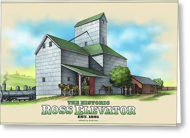The Ross Elevator Greeting Card