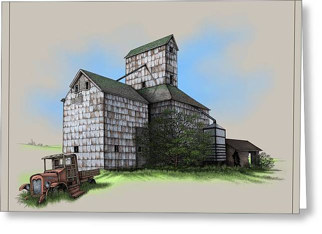 The Ross Elevator Version 5 Greeting Card by Scott Ross
