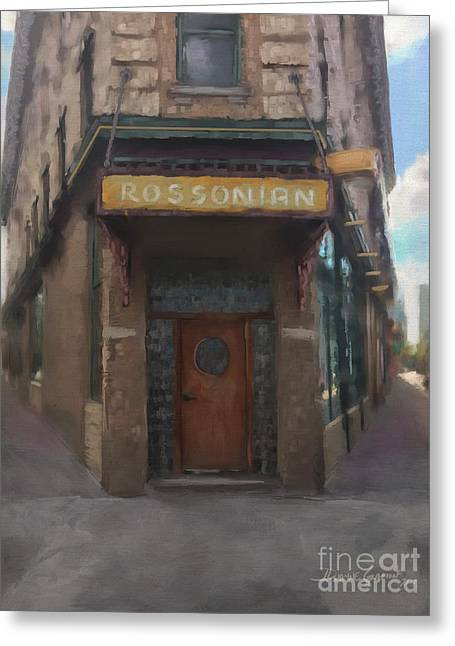 Greeting Card featuring the digital art The Rossonian by Dwayne Glapion