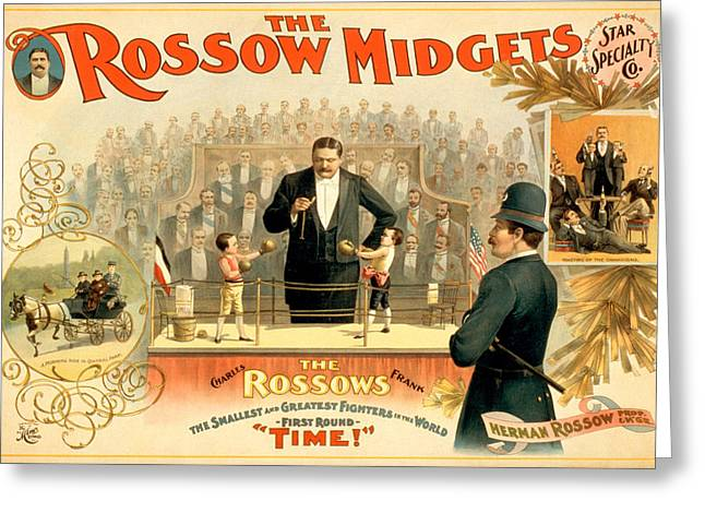 The Rossow Midgets Greeting Card by Charlie Ross