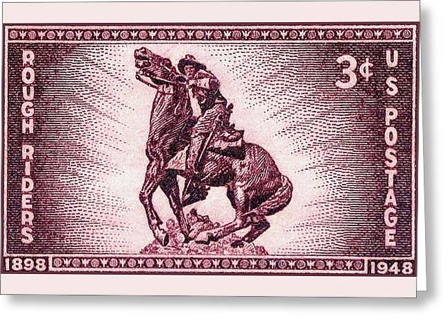 The Rough Riders Stamp Greeting Card