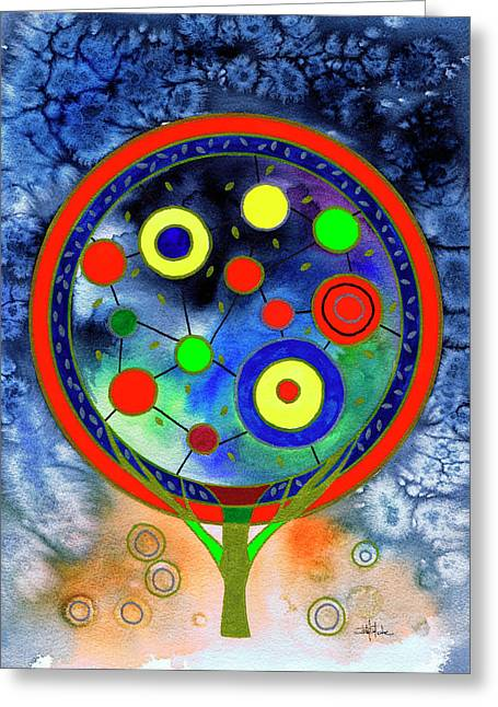 The Round Tree Greeting Card