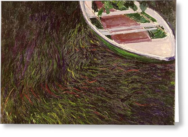 The Rowing Boat Greeting Card by Claude Monet