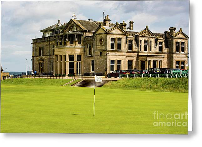 The Royal And Ancient Golf Club Of St Andrews Greeting Card by MaryJane Armstrong