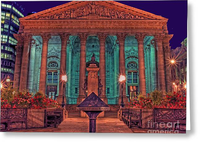 The Royal Exchange In The City London Greeting Card by Chris Smith
