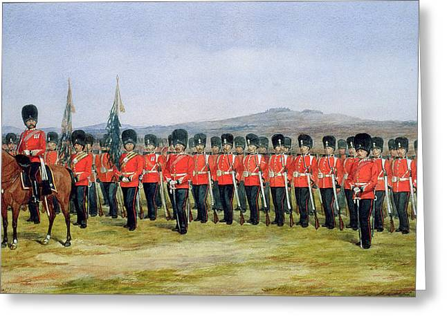 The Royal Fusiliers Greeting Card by Richard Simkin