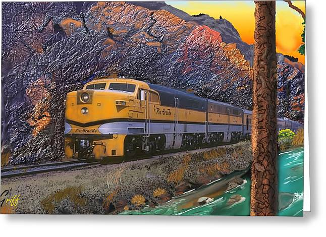 The Royal Gorge Greeting Card by J Griff Griffin