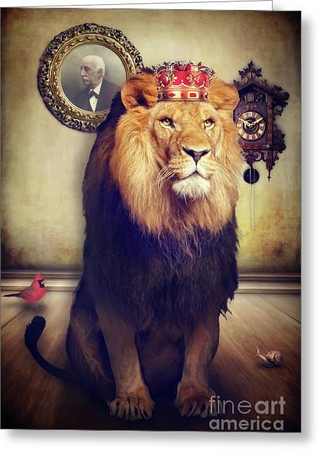 The Royal Lion Greeting Card